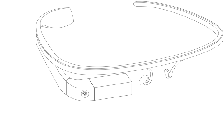 Test wireframe on glasses