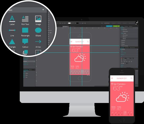 500+ widgets to create interactive wireframes