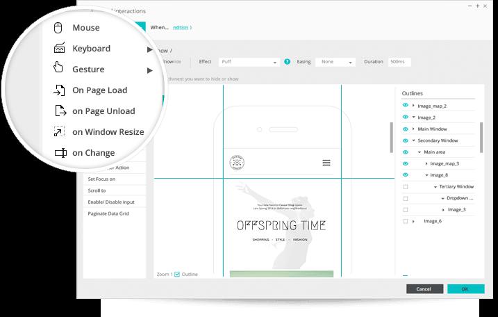 Code-free application prototypes