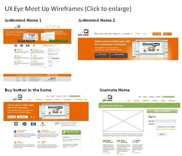 Justinmind-meet-up-wireframes