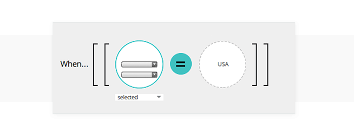 Add an expression to a select list event in your UI prototype