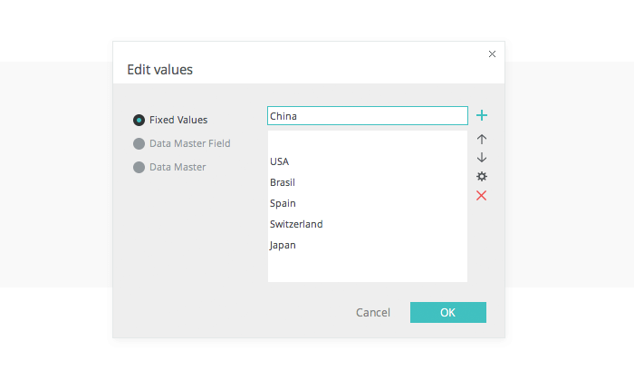 Edit values in select list in your UI prototype