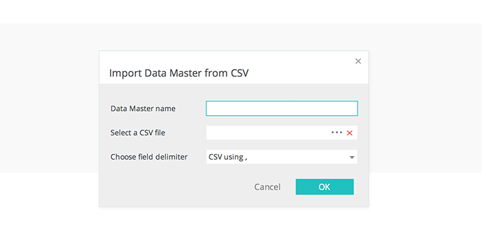 Data-driven prototyping: import real data from a .csv file