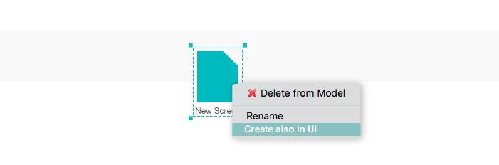 Create prototype screens in your UI from the scenario
