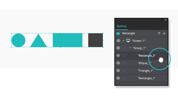 Interactive Prototype Widgets group outline