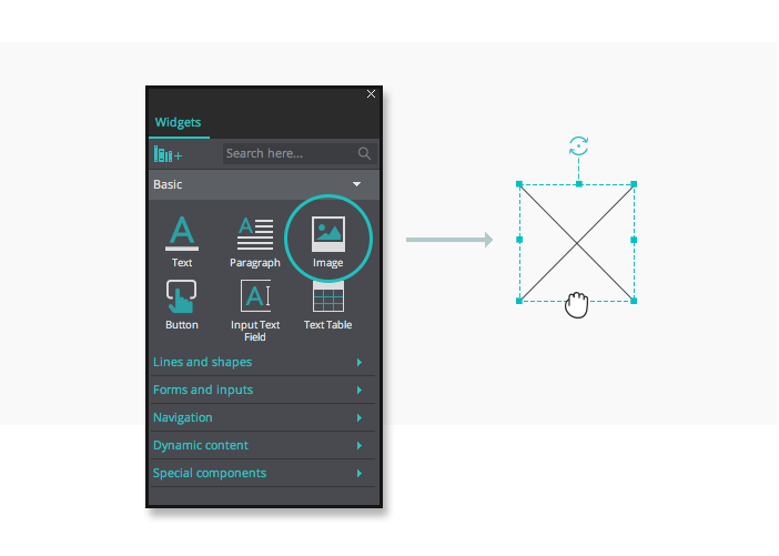 Image widget in your interactive wireframes