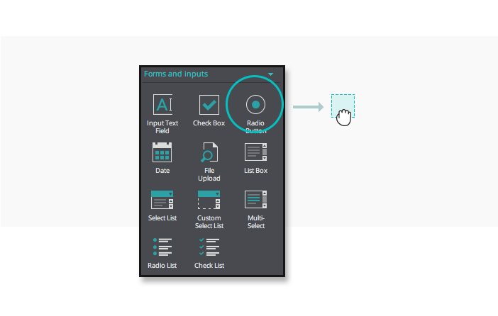 Add a radio button widget to your interactive wireframes