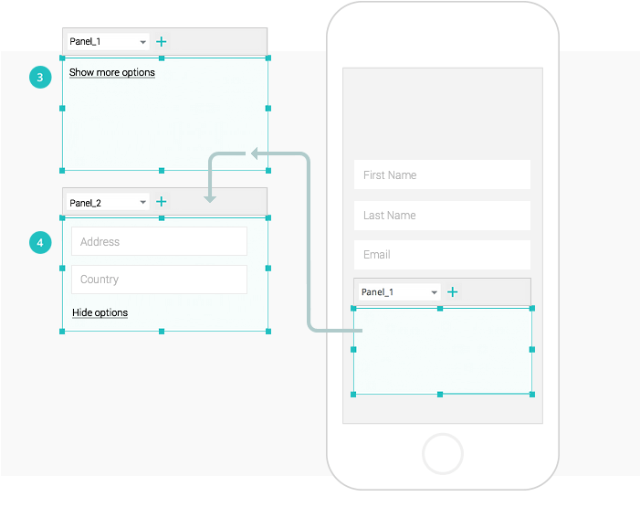 Interactive wireframes: add dynamic forms
