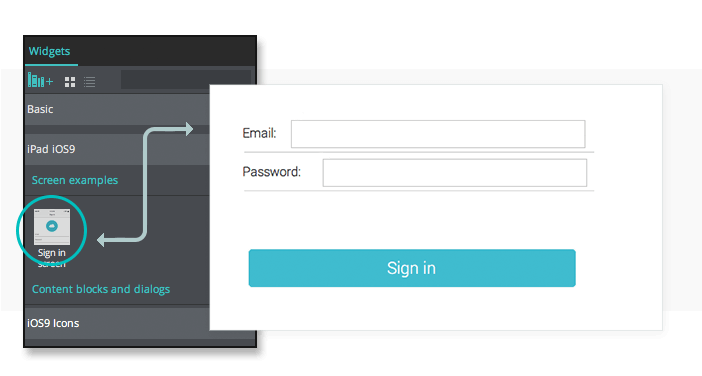 Login In Form in UI prototypes