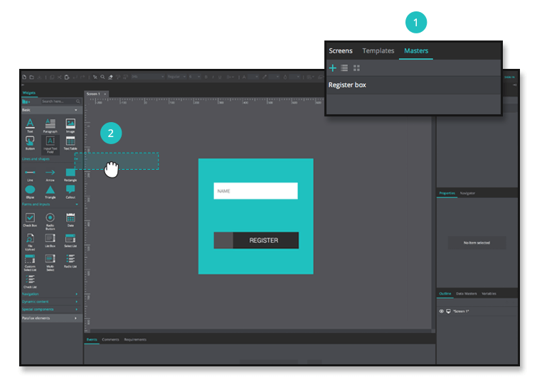 Create a master for your web and mobile prototypes