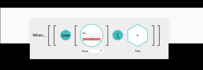 Password strength meter in prototypes: conditions
