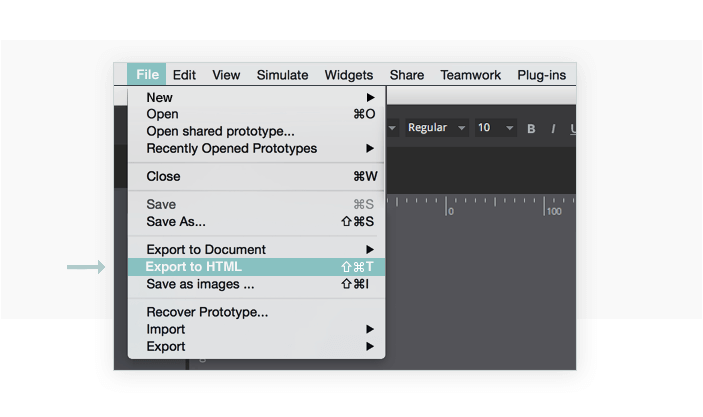Export your prototype to HTML
