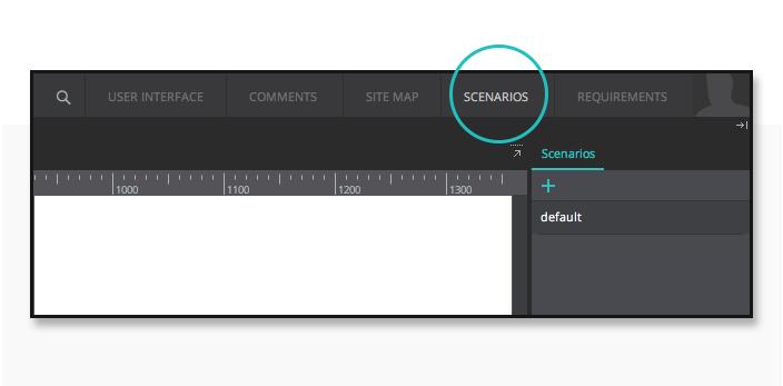UI prototype scenario's tab
