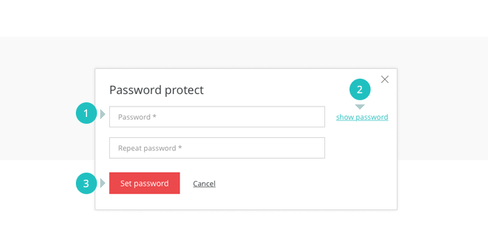 Set password to protect your shared prototype
