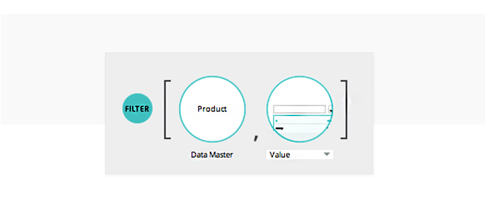 Simulate data searches in UI prototypes: filter expression