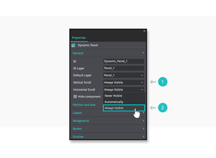 Simulate scrollbars in your interactive wireframes