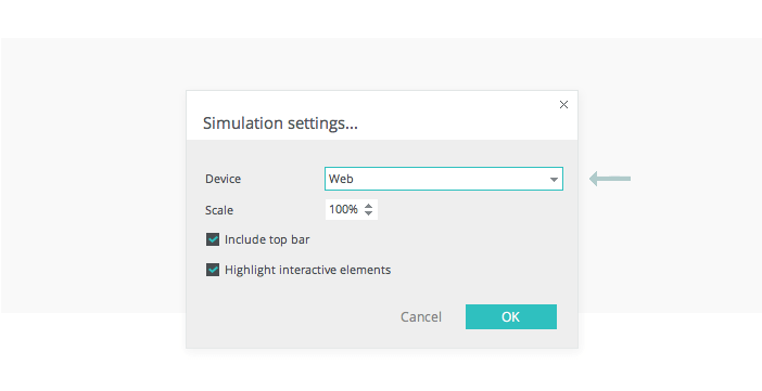 simulation-settings-interactive-wireframe