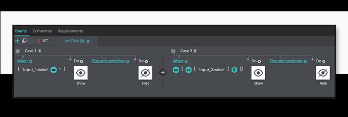 Error messages in UI prototypes: events