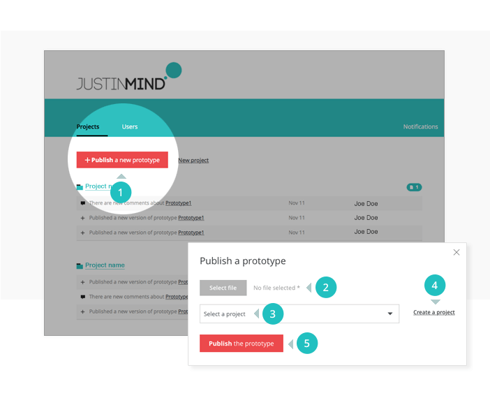 Publish a prototype on your online account