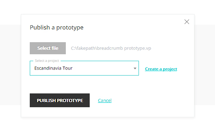Upload a prototype to your online account