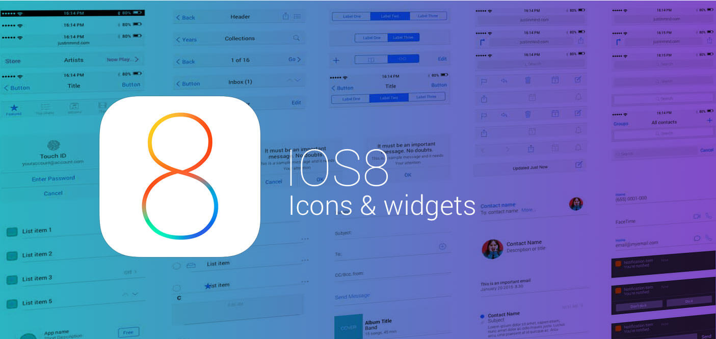 New iOS8 UI Widget library