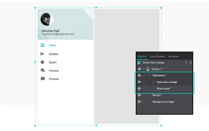 Interactive wireframes Group the Dynamic Panel and Rectangle Widgets