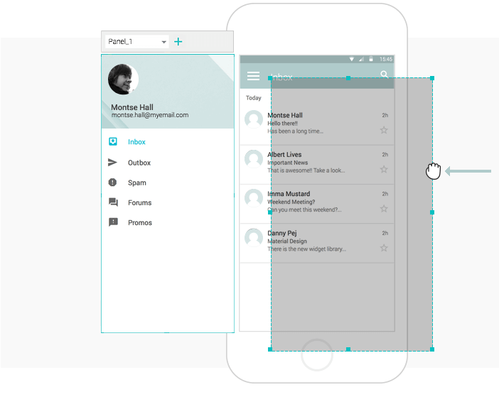 Interactive wireframes Rectangle widget