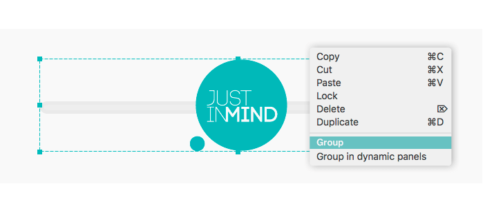 Interactive wireframe: custom slider group