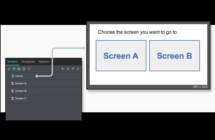 Screen target in UI prototypes