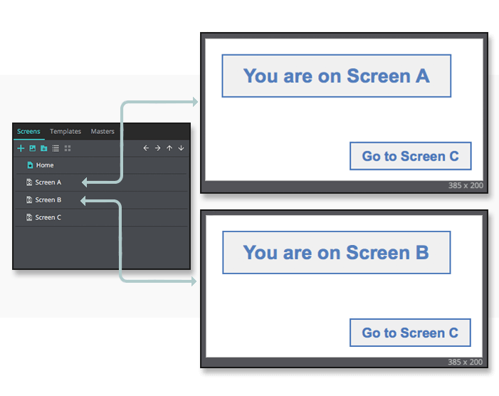 Stored variables in UI prototypes