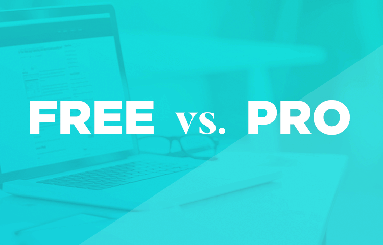 list of differences in pro and free versions of justinmind prototyping tool