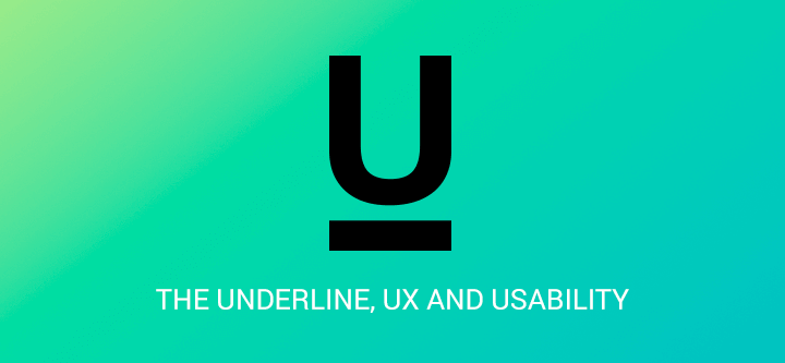 The underline at the intersection of UX design and usability