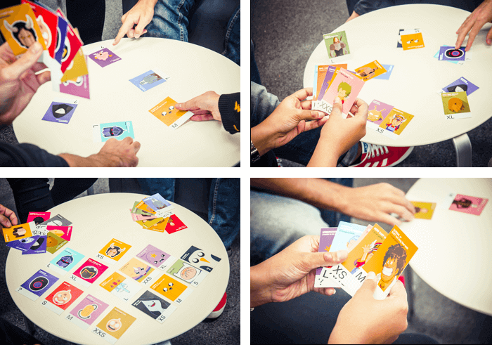 Personalized Scrum cards for each member of the team