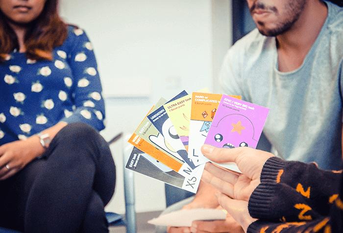 Justinmind custom scrum cards