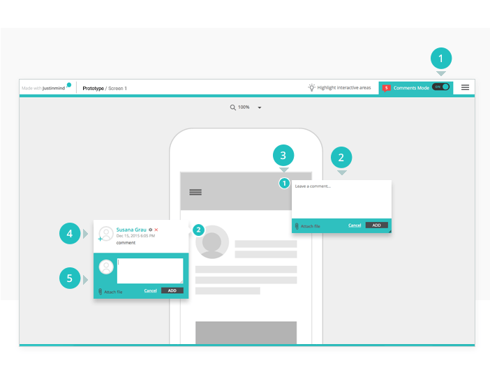 Review a shared prototype online