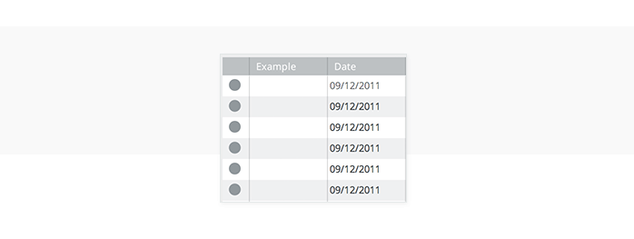 Data-driven prototyping: date field in data masters