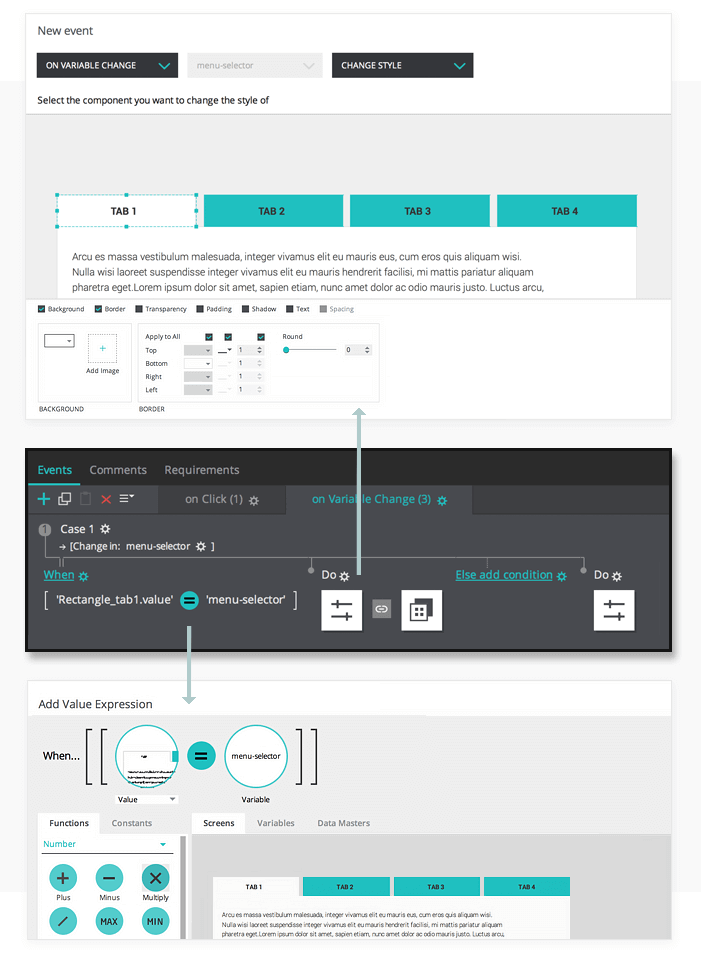 Create a change style event in your interactive prototype