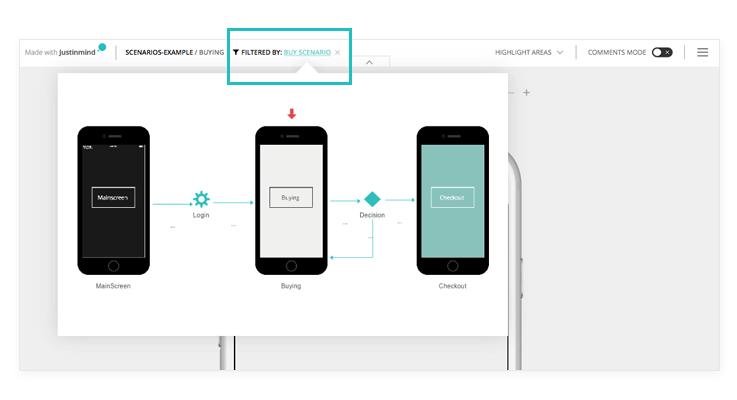 scenarios-filters-interactive-prototyping