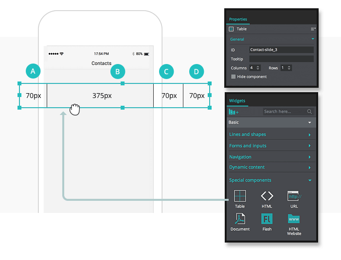 2-interactive-prototypes-wishlist-table-widget-ui