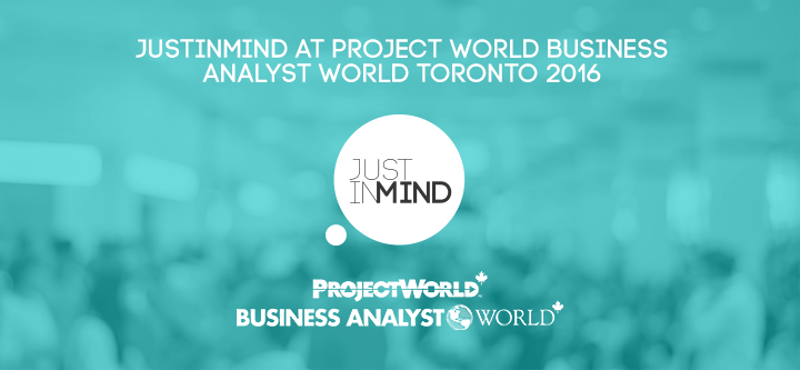 Project World Business Analyst World Toronto 2016 – Win FREE entrance with Justinmind!