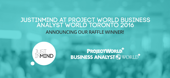 Project World Business Analyst World Toronto 2016 – Announcing our raffle winner!