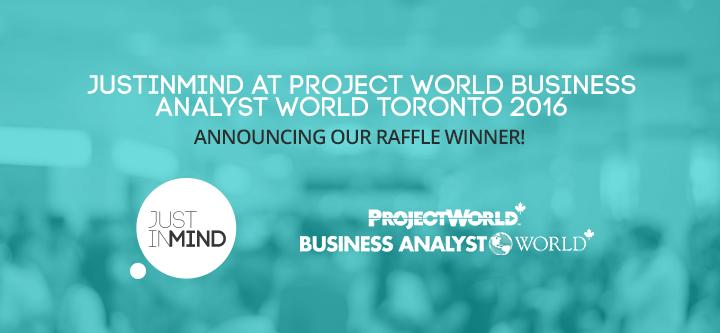 Project World Business Analyst World Toronto 2016 – Meet our smartwatch raffle winner!