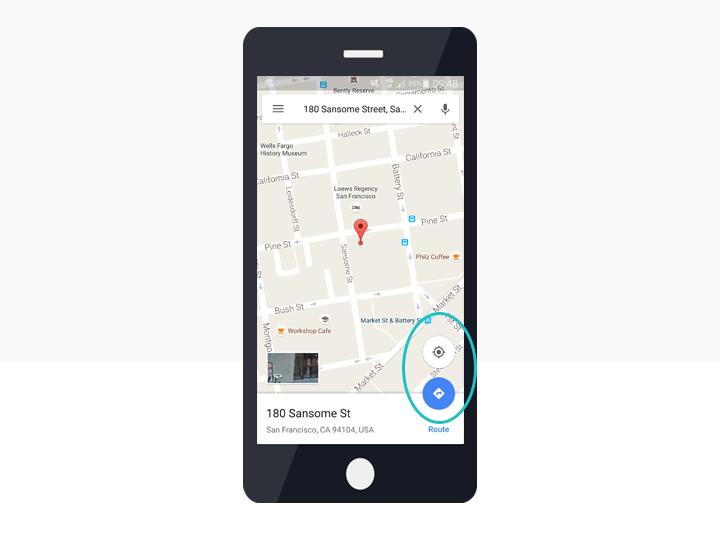 hamburger-navigation-googlemaps-screen