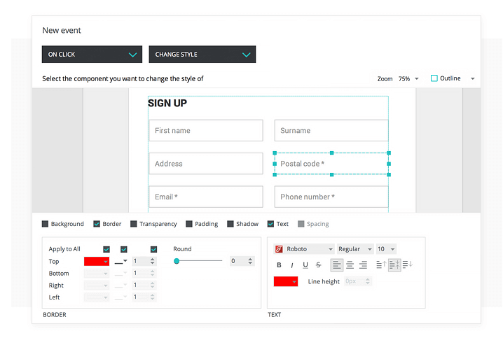 interactive-prototypes-input-form-event-change-style