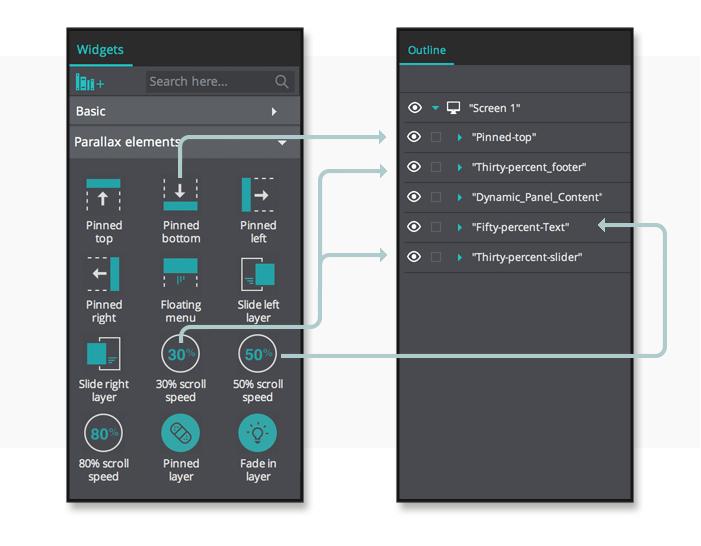 interactive-prototypes-parallax-library-menu
