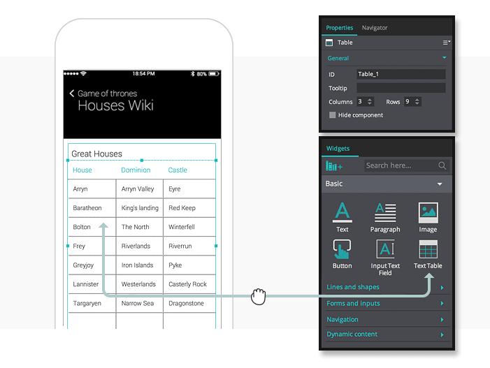 interactive-prototypes-text-table-widget
