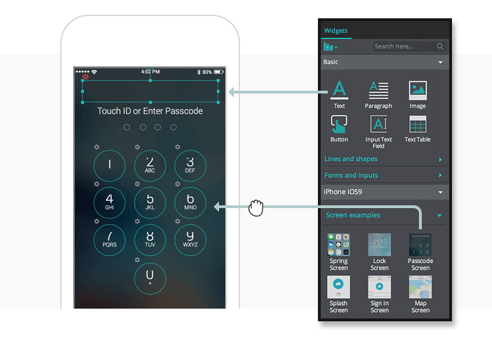 2-mobile-wireframe-passcode-screen-UI-elements