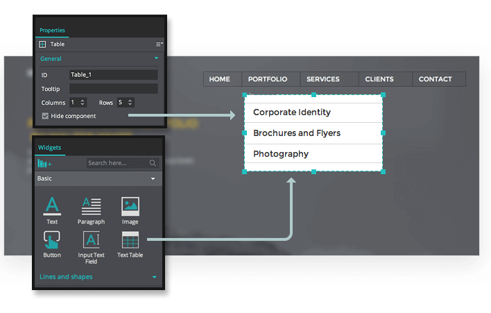 how to show drop down list on wireframe