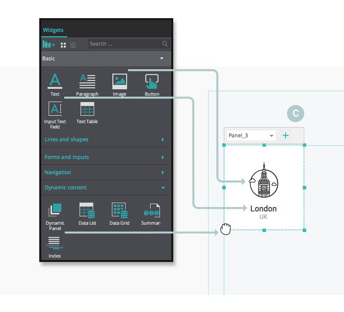 web-wireframe-composition-ui-elements-widgets