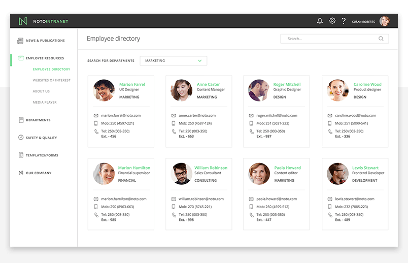 office-fabric-ui-employee-directory-screen